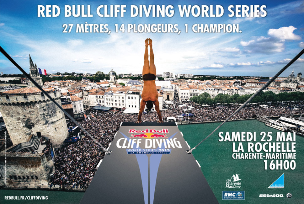 Red Bull Cliff Diving : covering d'un supermarché