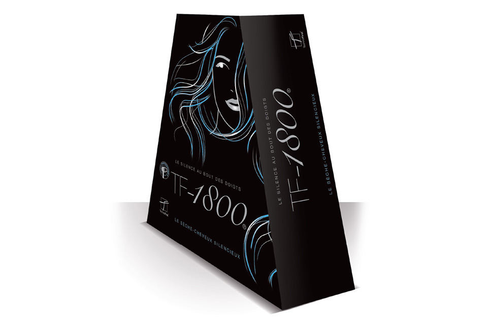 Technofirst : packaging personnalisé pour sèche-cheveux