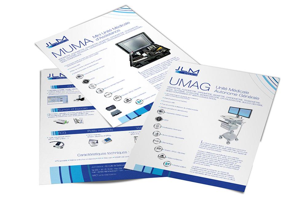 JLM Medical : fiches de présentation de produits destinés au milieu hospitalier