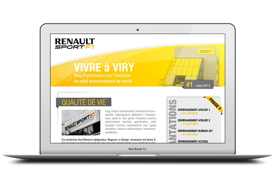 Renault : newsletter pour la présentation de l'avancement de travaux