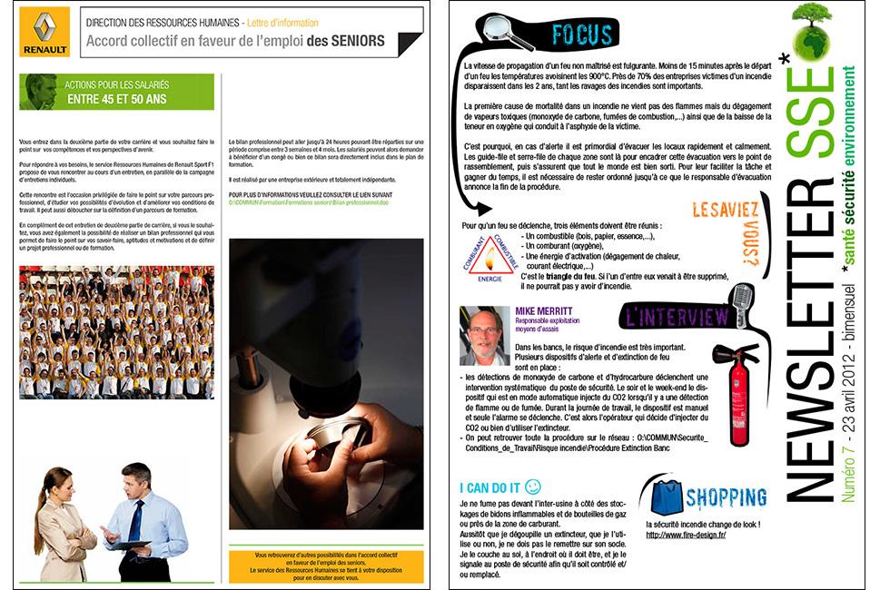 Renault : newsletter pour la communication interne