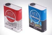 Design des bidons d'huile HTX pour l'entreprise ELF