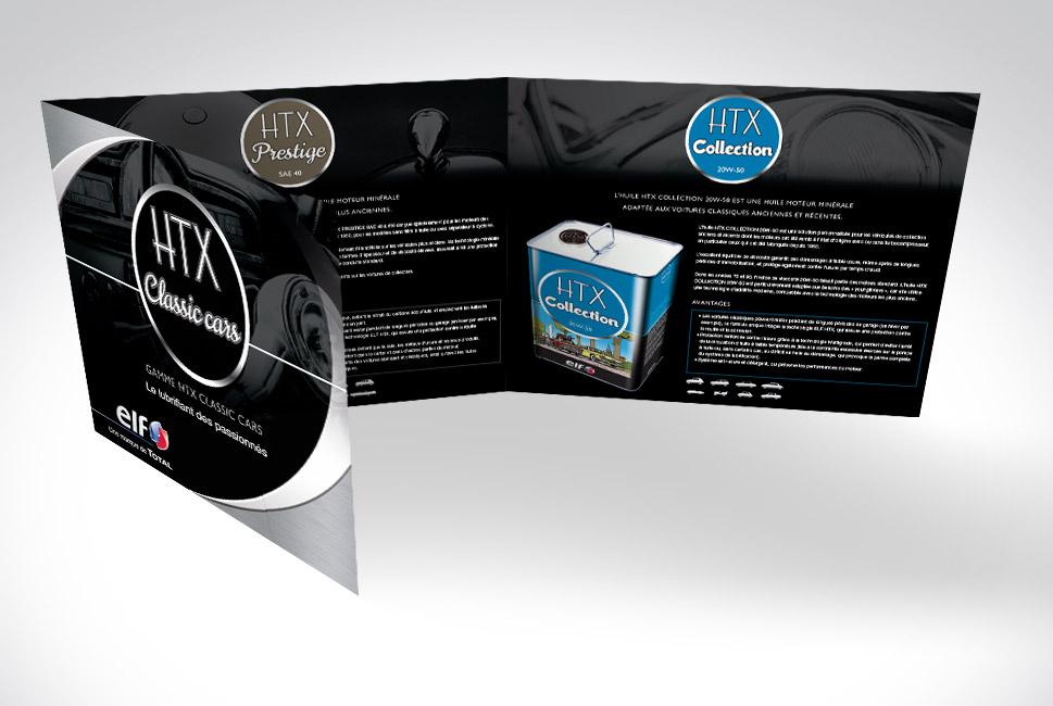 Plaquette de présentation de la gamme HTX pour ELF