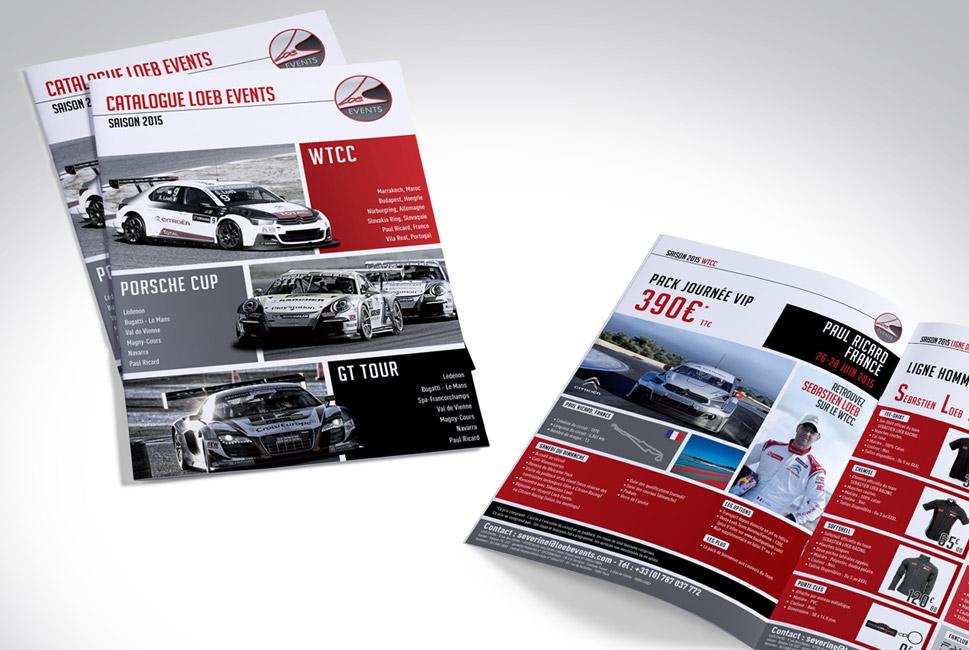 Catalogue pour la société de Sébastien Loeb