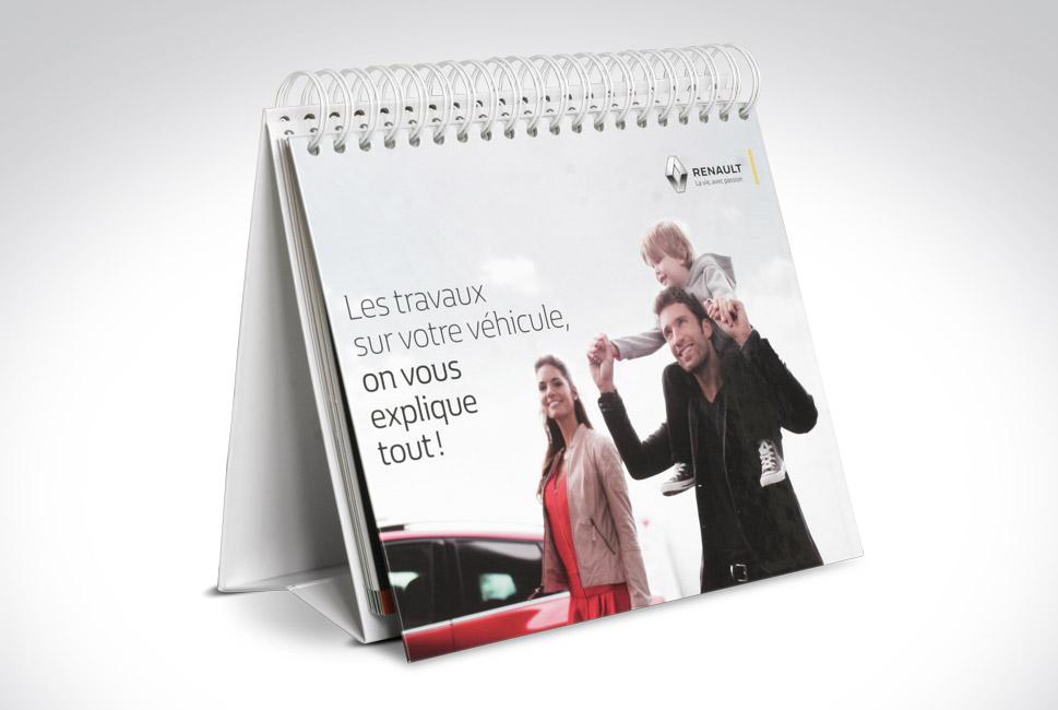 Chevalet de présentation produits pour Renault