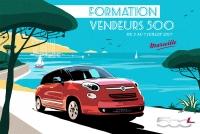 Affiche vintage pour Fiat 500XL
