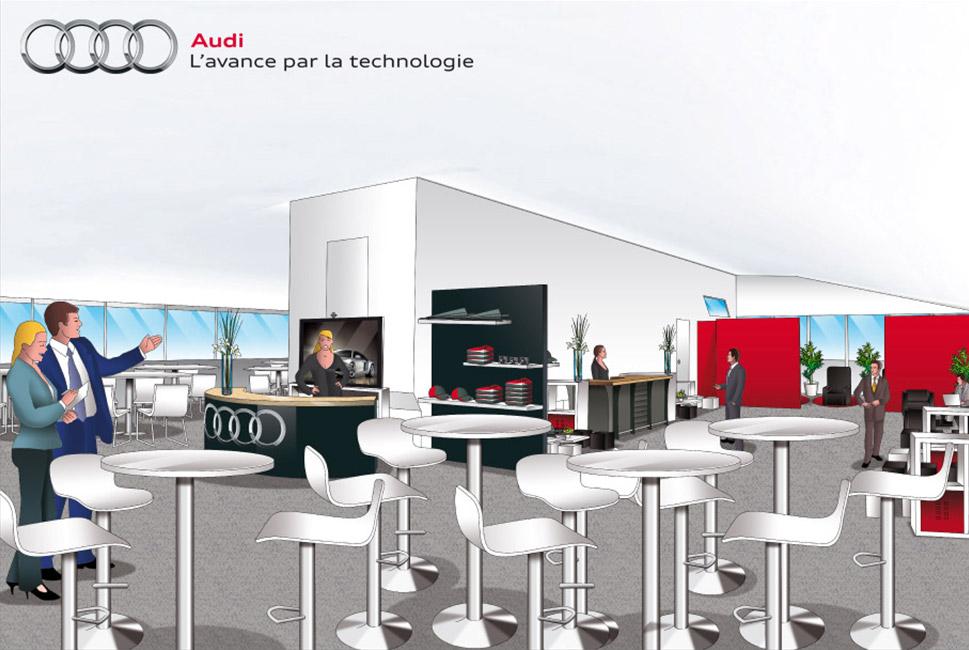 Illustration pour projet événementiel Audi
