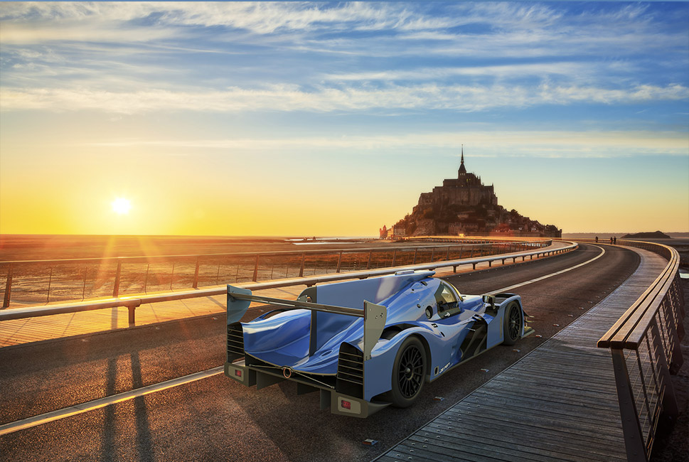 Modélisation 3D prototype Ligier Onroak