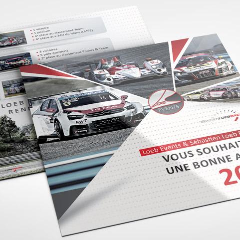 Carte de voeux pour la société de Sébastien Loeb