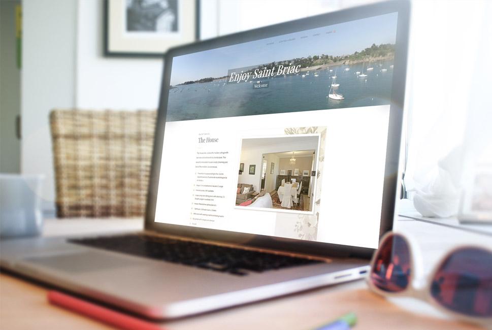 Site internet vitrine location saisonnière
