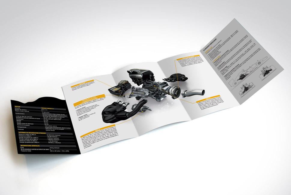 depliant moteur Renault Sport F1
