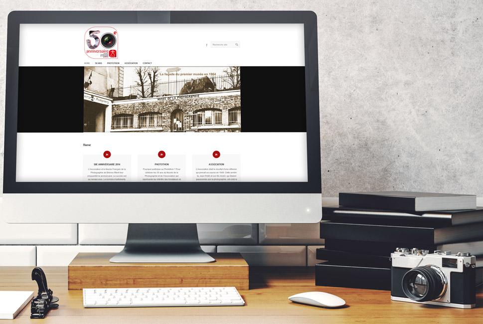 Visuel du site internet de l'association