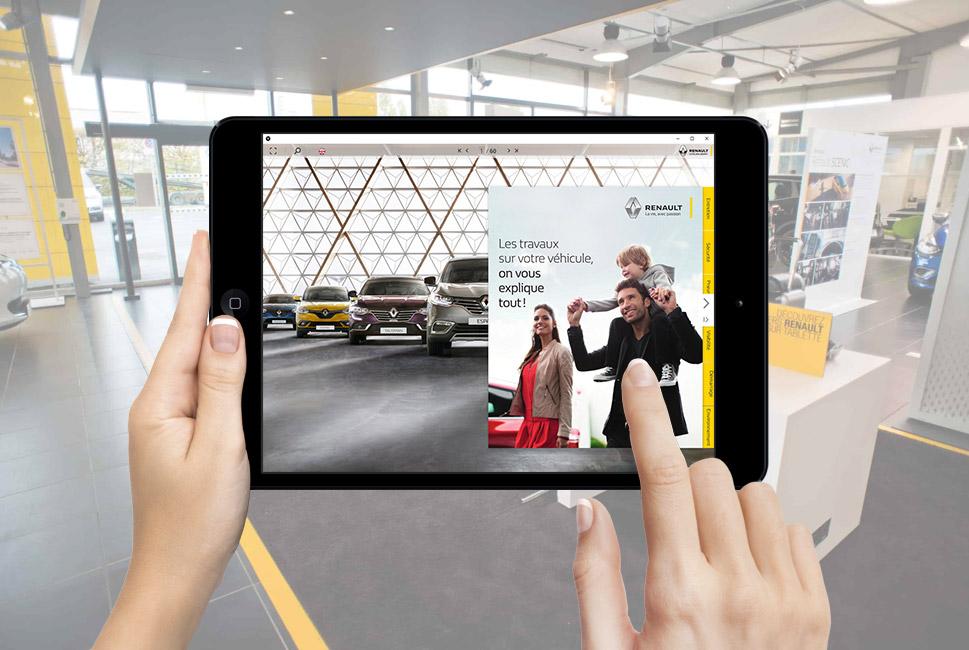 Brochure digitale pour un catalogue BtoC Renault