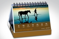 Calendrier chevalet avec photo de cheval pour chaque semaine