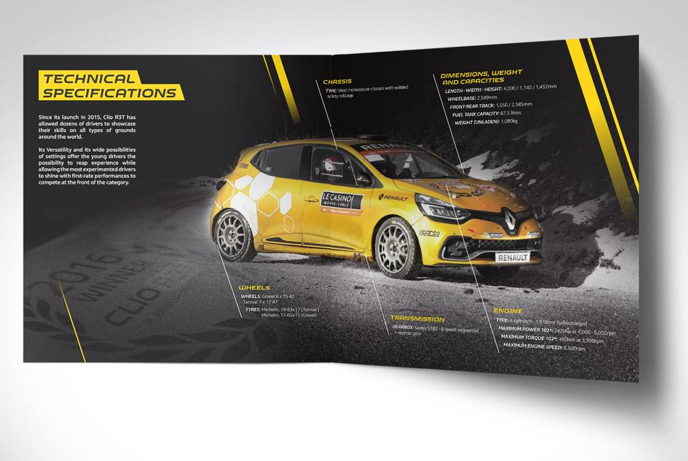 Plaquette de présentation de la gamme compétition de Renault Sport