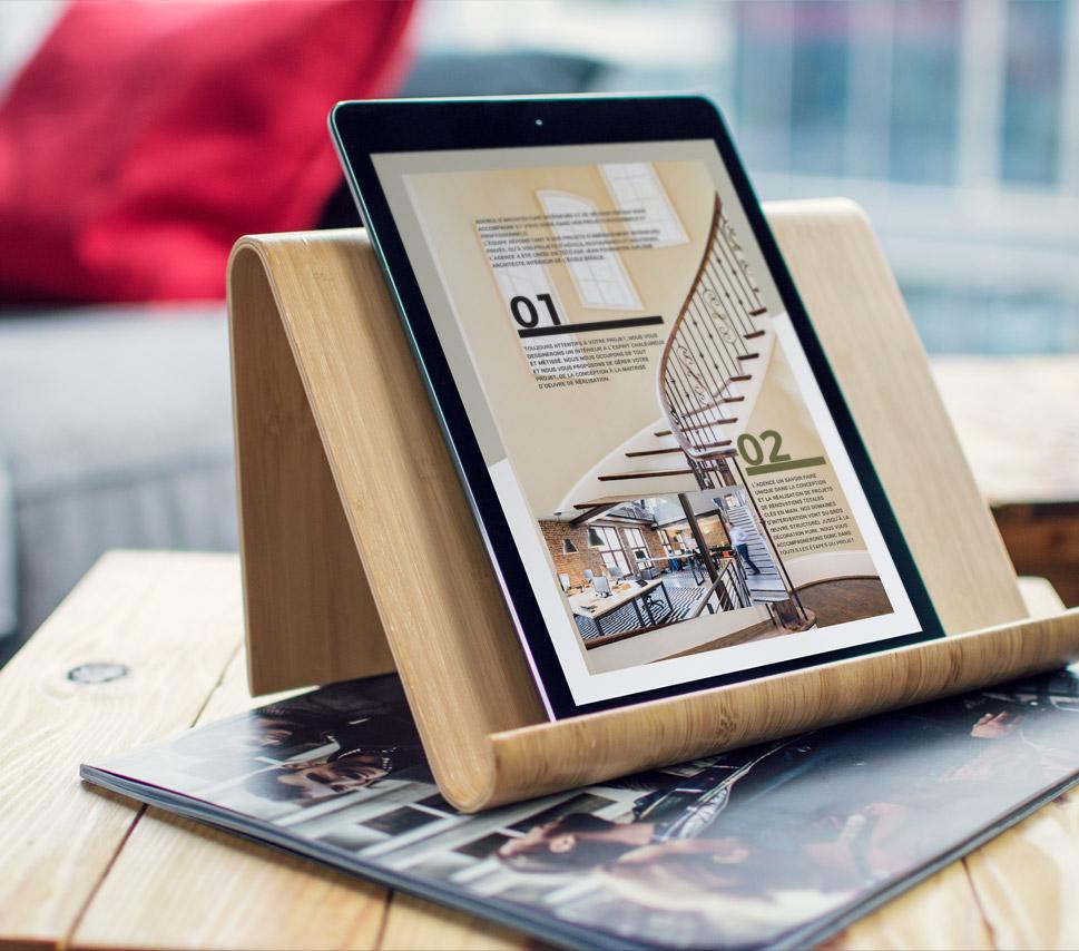 Book digital pour prospection